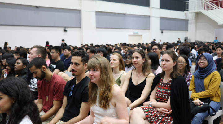 International students participating in the orientation ceremony hosted by Taylor's University