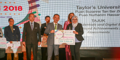 Taylorr's E-Learning team wom the Transformative Teaching 3rd Place in AKRI 2018